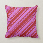 [ Thumbnail: Orchid and Red Pattern Throw Pillow ]