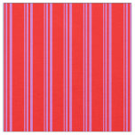 [ Thumbnail: Orchid and Red Stripes/Lines Pattern Fabric ]