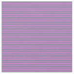 [ Thumbnail: Orchid and Slate Gray Stripes/Lines Pattern Fabric ]