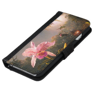 Orchid and Three Brazilian Hummingbirds iPhone 6/6s Wallet Case