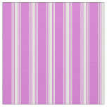 [ Thumbnail: Orchid and White Colored Pattern Fabric ]
