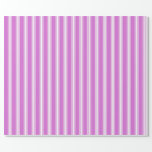 [ Thumbnail: Orchid and White Colored Pattern Wrapping Paper ]