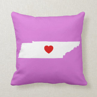 Orchid and White Tennessee with Red Heart Throw Pillows
