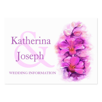 Orchid art wedding info enclosure card business card templates