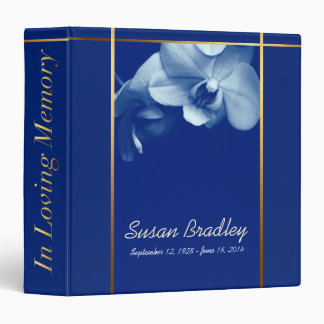 Orchid B1 Memorial Remembrance Books Personalized 3 Ring Binder