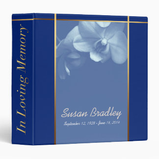 Orchid B Memorial Remembrance Books Personalized Binder