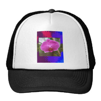 Orchid bamboo butterfly flowers insect colorful 99 trucker hat