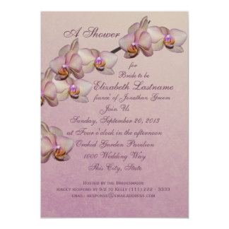 Orchid Beauty Bridal Shower Card