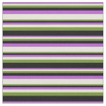 [ Thumbnail: Orchid, Beige, Green, and Black Lines Fabric ]