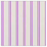 [ Thumbnail: Orchid & Beige Lines/Stripes Pattern Fabric ]