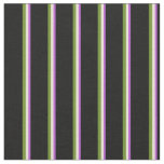 [ Thumbnail: Orchid, Bisque, Green, and Black Pattern Fabric ]