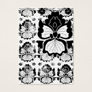 orchid-black-and-white-card business card
