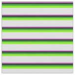 [ Thumbnail: Orchid, Black, Forest Green, Green, and Lavender Fabric ]