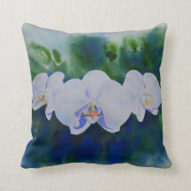 Elegant Orchid Decorative Throw Pillows Zazzle
