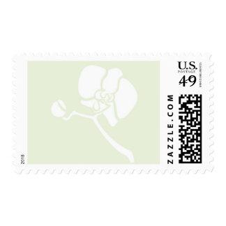Orchid Bloom- Med. White and Celery Postage