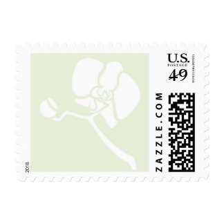 Orchid Bloom- Small. White and Celery Postage