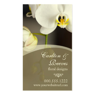 Orchid Blooms 2 Double-Sided Standard Business Cards (Pack Of 100)