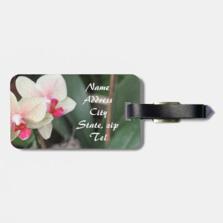 Orchid Blooms Bag Tag
