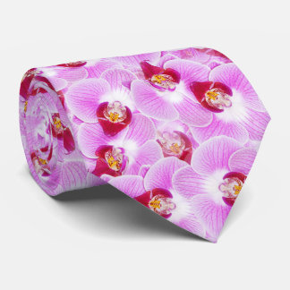 Orchid Blossom Photo Floral Abstract Pattern Neck Tie