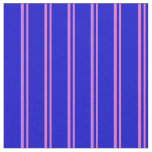 [ Thumbnail: Orchid & Blue Lines Pattern Fabric ]
