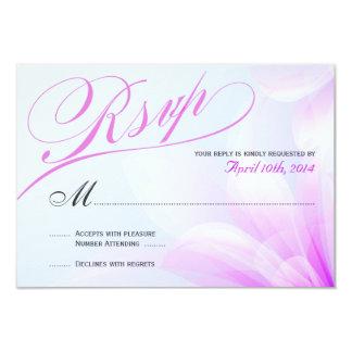 Orchid Blue Violet Floral RSVP Personalized Announcement