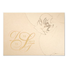Orchid Blush Gold RSVP Card at Zazzle