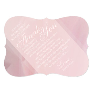 Orchid Blush Thank Reception Cards