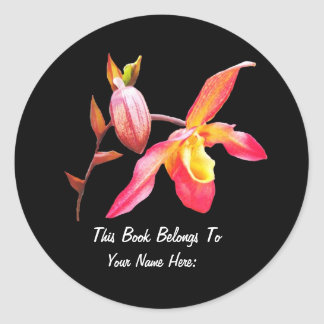 Orchid Book Plate Sticker