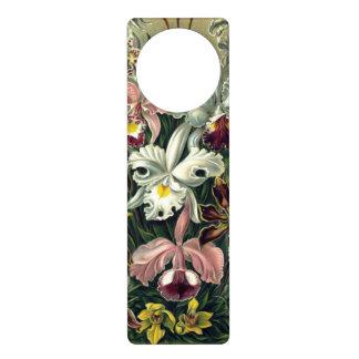 Orchid Botanical Print Door Hanger