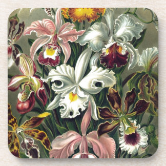 Orchid Botanical Print Drink Coaster