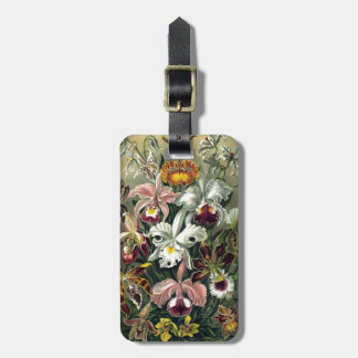 Orchid Botanical Print Luggage Tag