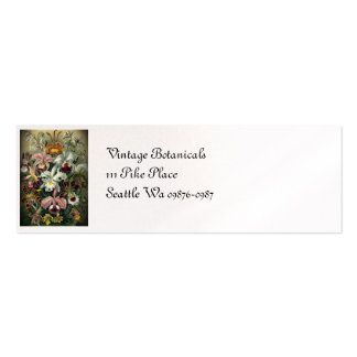 Orchid Botanical Print Mini Business Card