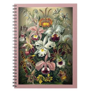 Orchid Botanical Print Spiral Notebook