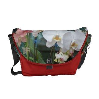 Orchid Bouquet Rickshaw Messenger Bag