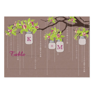Orchid Branch Jar Modern Wedding Place Cards Large Business Cards (Pack Of 100)