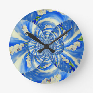 Orchid Breeze Mandala Round Clock