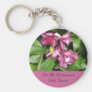 Orchid Bridesmaid Thanks Keychain