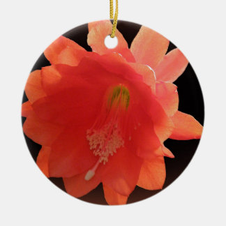 Orchid Cactus - Epiphyllum Ackermannii - Blossom Double-Sided Ceramic Round Christmas Ornament