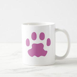 Orchid Cat Paw Print Mug
