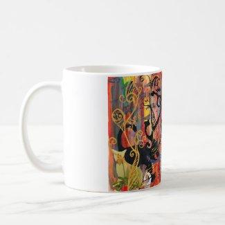 Orchid Cats mug