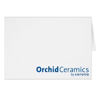 Orchid Ceramics Notecard Stationery Note Card