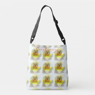 orchid closeups  Thunder_Cove yellow/white Crossbody Bag