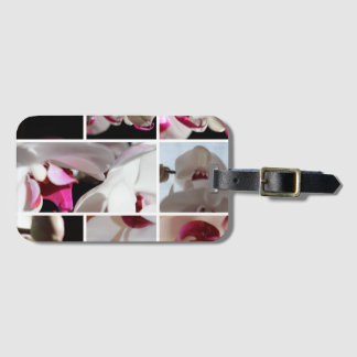 Orchid Composition Bag Tag
