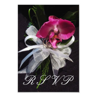 Orchid Corsage RSVP Card