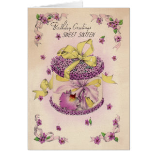 Orchid Corsage Sweet Sixteen Card