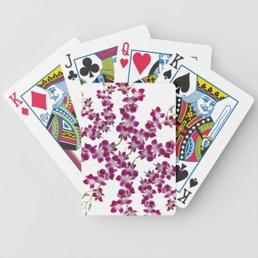 ORCHID : Cymbids Golden Shower Flower Bicycle Playing Cards