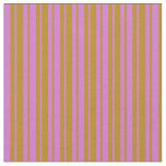 [ Thumbnail: Orchid & Dark Goldenrod Striped Pattern Fabric ]