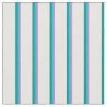 [ Thumbnail: Orchid, Dark Turquoise, Dark Cyan & White Colored Fabric ]