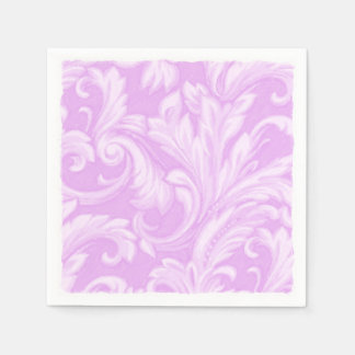 Orchid Dazzling Damask Paper Napkin
