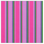 [ Thumbnail: Orchid, Deep Pink, Green & Dark Slate Blue Colored Fabric ]